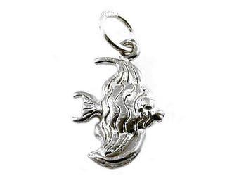 Sterling Silver Angel Fish Charm For Bracelets