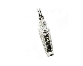 Sterling Silver Egyptian Tutankhamun Charm For Bracelets