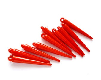 10 Red Spikes - 6-S-7A