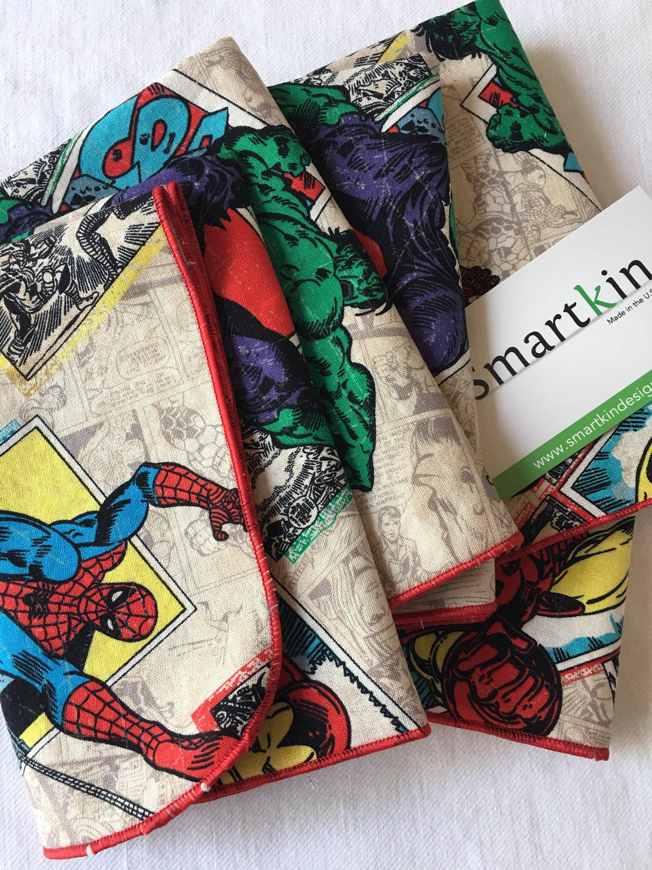 Avengers comic book all cotton cloth lunch box napkin for 12x15 calculator