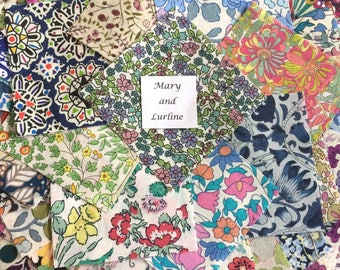 50 x 2.5 inch Squares Lucky Dip Pack of Liberty London Tana Lawn