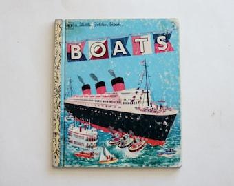 "Little Golden Book ""Boats"" - Children's Book, Vintage Book, Story Book, Read"