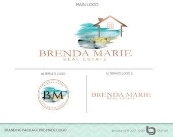 Real Estate Agency Logo, Set of 3 Logos, Branding Package Premade Logo, Realtor Logo, Broker Logo, Real Estate Branding Kit, House Logo