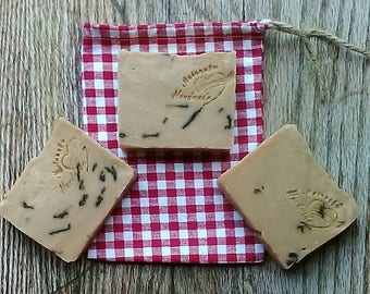 Rose Goats' Milk Soap 3 Pack -  Handcrafted Natural