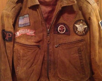 Vintage/ Rage/Grunge/OOAK/Moto/Biker/Bomber Jacket!!