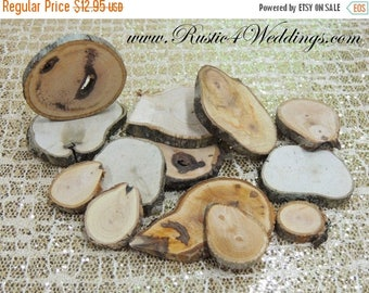 """SALE 100 hickory rustic wood slices1""""-3"""" for crafts, candles, decoration, blanks, rustic weddings, wood art ,"""