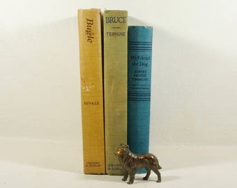 Shabby Chic Antique Dog Books - Great Colors - Good Reading