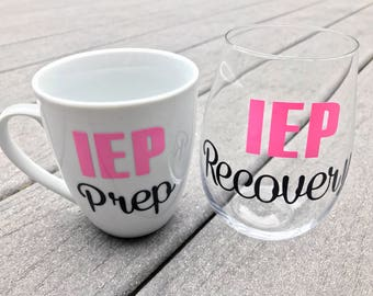 IEP Prep / IEP Recovery Coffee and Wine Glass Set - Perfect Gift for Special Needs Parents!
