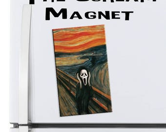 The Scream Parody Art Magnet