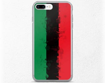 Pan African Flag iPhone Case, Girlfriend Gift, Urban Unity Gift For Him or Her, Afrocentric, iPhone 7 Plus, Boyfriend Gift Under 20