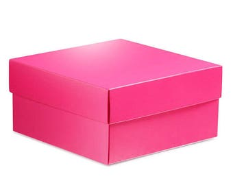 8 Large Hot Pink Square Gift Boxes 8x8x3.5  sc 1 st  Etsy & Square gift boxes | Etsy Aboutintivar.Com