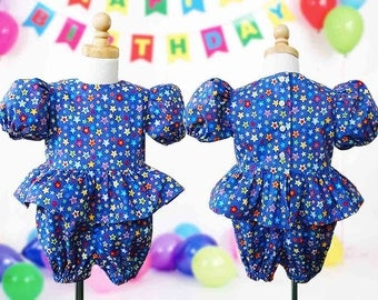 Jumpsuit, Romper, Bow Headband, Girl Size 3, Sizes 4, 5, 6 Made to Order, Special Occasion, Party, Birthday, Vacation, Summer Holiday