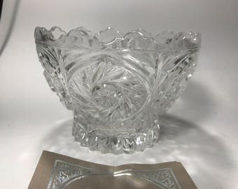 Imperial Crystal Sunrise Collection BOWL Made in W Germany 24% Lead Crystal NIB