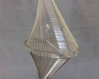 Vintage 1970's FOX Lucite & String Sculpture