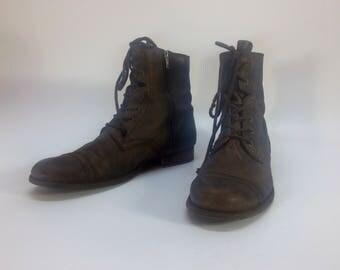 Vintage Mens Leather Brown All Saints Boots Size 10.5