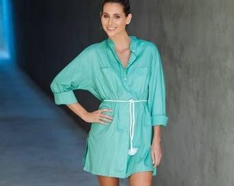 VINE shirt tunic in envy green
