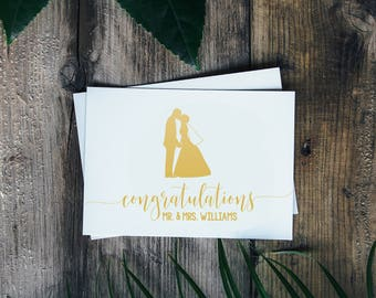 Custom Wedding Card - Congratulations