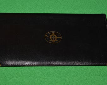 Vintage Wallet Genuine Black Leather
