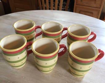 PFALTZGRAFF PISTOULET coffee mugs set of 6
