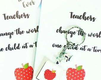 Teacher gift, teaching assistant, school gift, Gifts for teacher, present, best teacher, teacher pin badge, teacher keyring, school gifts