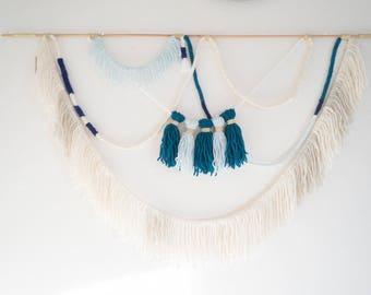 Addison Wall Tapestry // Wall Hanging // Wall Art // Rope & Yarn Hanging