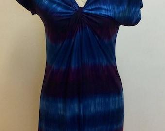 Lovely vintage tie-dye effect Cap Sleeve dress