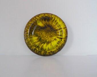 Faxe Denmark Ernst Ceramic Bowl - Yellow glaze 1960s Modernist 86 4 Handmade by Ernst Nielsen