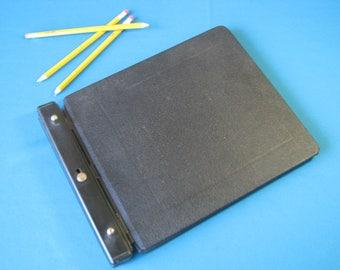 Ledger Binder - Wilson Jones Raven - 241-20N - Account Book - Vinyl Guarded - Hinge Binder - Peg Binder - Journal - Vintage 1960's