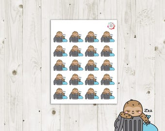 Lazy Sloth Garbage Planner Stickers - ECLP Stickers