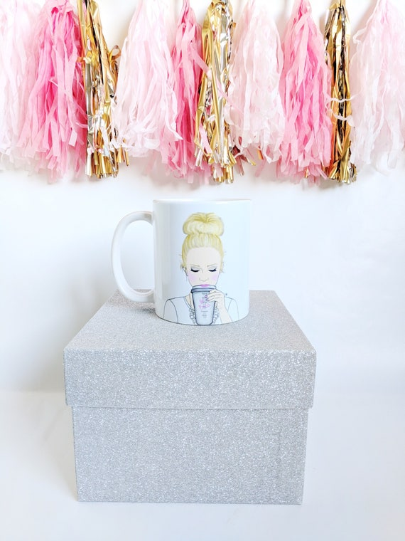GIRLBOSS mug, personalized mug, girl boss mug, coffee lover, girly mug, custom mug, boss mug