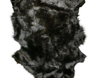 Glacier Wear Tuscan Lamb Hide Pelt Fur Black shp6110