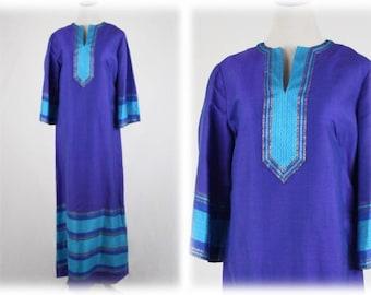 1960s Thai Raw Silk Maxi Dress Hostess Dress Handmade in Thailand 12