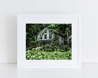 Abandoned House Fine Art Photography Print Urban Exploration Urban Decay Abandoned Places Abandoned Photograph House Art Print House Photo
