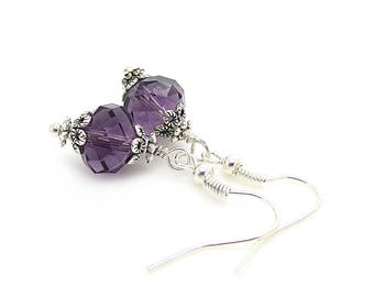 Eggplant Bridesmaid Earrings, Lapis Bridal Jewellery, Dark Purple Jewellery, Eggplant Wedding, Bridesmaid Jewellery, Bridal Party Gifts
