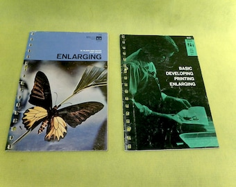 Vintage Kodak Darkroom Booklets - 2 Titles - Basic Developing, Printing, Enlarging - Enlarging Photography