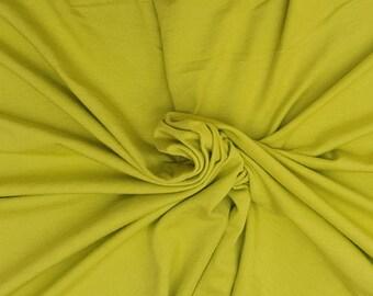 Bamboo Cotton Lycra Fabric Jersey Knit by The Yard Kiwi 4 Way Stretch 6/17