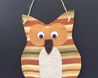 Fabric OWL Wall hanging