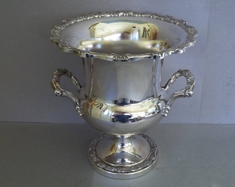 Vintage Silver Champagne Bucket - Champagne Cooler - Wine Cooler - Barware - Wine Accessory - Silver Serving Ware