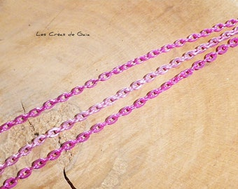 3 x pink mesh metal chains