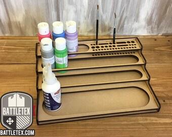 BattleTex Stright Paint Station 1 - Citadel Warhammer Wargaming Painting Tool Tidy Miniature Modeling