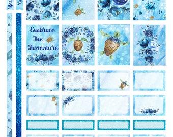 Underwater Adventure Erin Condren or Recollections Weekly Kit Printable Planner Stickers