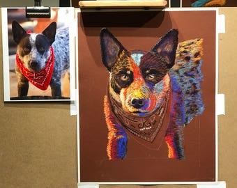 Commissioned Pastel Portrait art of your Pet