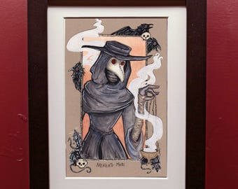 Memento Mori Plague Doctor  Archival Art Print