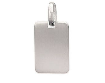 Rectangle pendant 14 x 29 mm Silver 925/000
