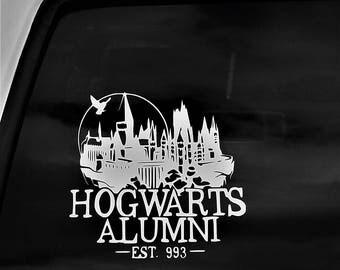 Car Decal, Hogwarts Alumni, Harry Potter, Vinyl decal,