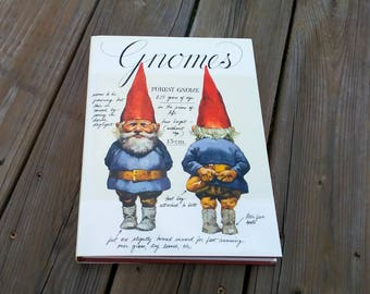1977 Gnomes Book by Wil Huygen Illustrated by Rein Poortvliet Very Good Condition Hard Cover Dust Jacket Great COFFEE TABLE Book Large Book