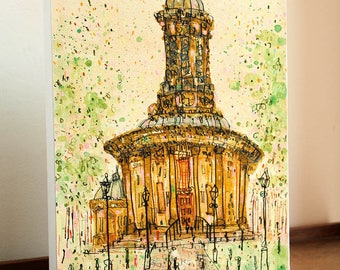 SALE 20% OFF SALTAIRE Art Print, Saltaire Canvas Print, Saltaire Painting, Saltaire Church Art, Bradford Wall Art, Yorkshire Buildings