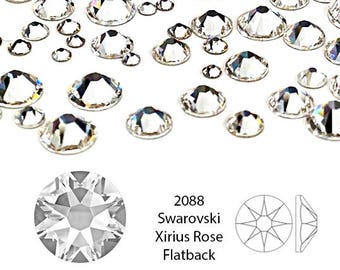 Swarovski Rhinestone crystal, Crystal Clear 2088 SS20 4.6-4.8mm, Xirius rose, 12 Pcs, foil Back - CO