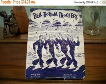 Bell Bottom Trousers Antique Sheet Music Vocal Piano Moe Jaffe Love Song Navy Military War Era Vintage 1944 Santly Joy Publishers
