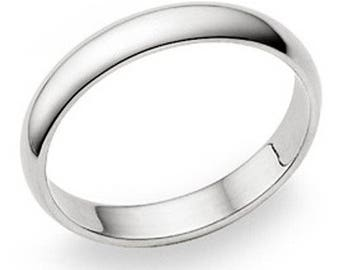4mm Personalized Sterling Silver Promise Ring